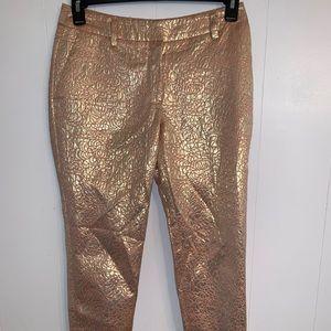 3-20$ H&M metallic gold ankle pants
